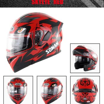 Others Unisex Double Lens Flip-up Motorcycle Helmet Off-road Safety Helmet  red_XL PAU_060HZN1V at TotalPro.com.au - Australia