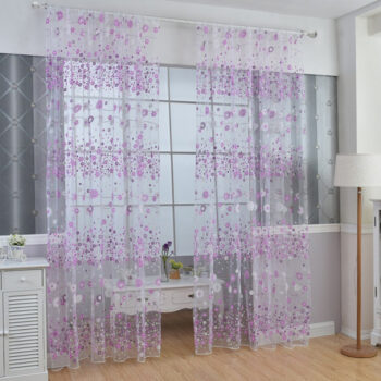 Bathroom Products 100x200cm Floral Sheer Curtain Tulle Drape for Bedroom Living Room Balcony Window Decoration purple_100*200cm PHO_0IFV52O2 at TotalPro.com.au - Australia