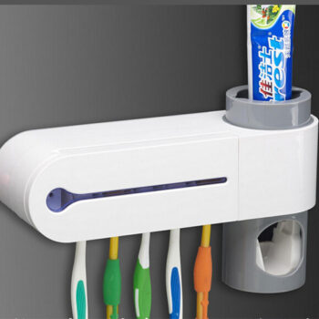 UV Light Toothbrush Sterilizer Holder Automatic Toothpaste Dispenser Ultraviolet Bathroom Set White_23 * 5.6 * 13cm PHO_00YJW0TS at TotalPro.com.au - Australia