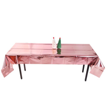 Catering Accessories Glossy Disposable Rose Gold Tablecloth Christmas 1x2.7M Party Decoration Aluminum Foil Tablecloth For Picnics Rose gold PHO_0GC0ZQ7D at TotalPro.com.au - Australia