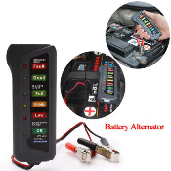 Diagnostic and Testing Tools Battery Tester 12V Battery Tester Portable Car Battery Tester with 6 LEDs As shown PAU_066TL31V at TotalPro.com.au - Australia