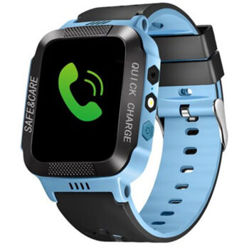 Cell Phone Watch Anti-lost Child Kid Smartwatch Positioning GPS Wristwatch Track Location SOS Call Safe Care Y21 touch screen + camera black and blue PEL_0D0N2INS at TotalPro.com.au - Australia