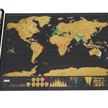 Education & Crafts ThinkMax Scratch Off Deluxe World Map Poster L01JJSH14170 at TotalPro.com.au - Australia