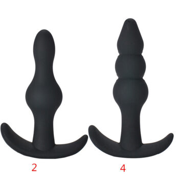 TotalPro – 1/2/4 Pcs Silicone Anal Plug Beads Dilatador Anal Toys Prostate Massager Dildo Adult Games Butt Plug Sex Toys for Woman 2#+ 4#