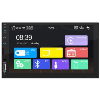 "2 DIN Car DVD Player 7"""" HD Car Stereo Radio USB Link for Apple CarPlay Multimedia Player Without camera PAU_05VWG8HW at TotalPro.com.au - Australia"