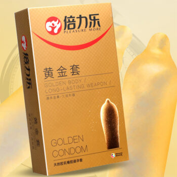 TotalPro – 10 Pcs Natural Latex Smooth Lubricated Contraception Condoms for Men Sex Toys Sex Products  Yellow 10 pieces