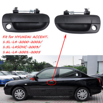 Safety 1 Pair Outside Door Handle OE 82660-25000FR (Front Right) 82650-25000FL(Front Left) for Hyundai Accent black PAU_05YHGQQO at TotalPro.com.au - Australia