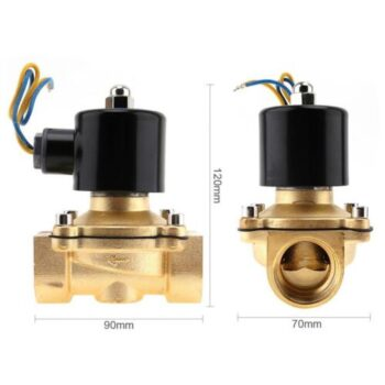 Bathroom Equipment 12V 1 inch Brass Electric Solenoid Valve Magnetic Water Air Normally Closed DC12V PHO_0DFRA3IX at TotalPro.com.au - Australia