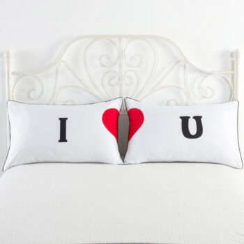 Bedding 2pcs Couple Pillow Case Couple Wedding Bed Home Living Room Decorative Pillow Covers  I heart U PHO_0BMBR51A at TotalPro.com.au - Australia