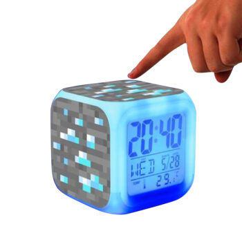Floor Care Minecraft Alarm Clock with LED Light Game Action Toy Home Decor 003 PHO_0IWJR46M at TotalPro.com.au - Australia