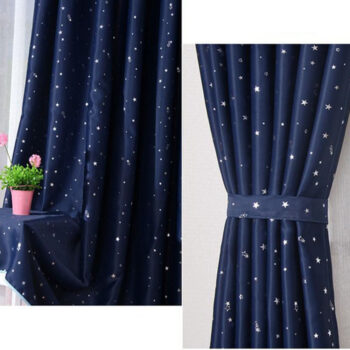 Bathroom Products 1pc Heat Insulation Shading Partition Curtain Star Pattern Sky Blue 130*150 cm navy HO10703C9528 at TotalPro.com.au - Australia