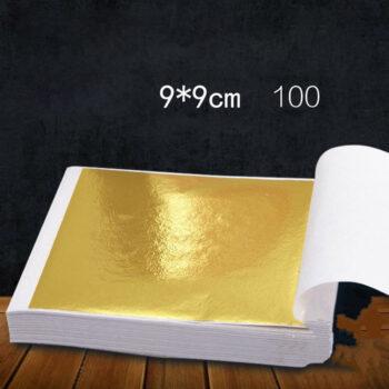 Desk accessories and workspace m 100 Pages 24K Gold Leaf Art Design Gold-Plated Frame Decorative Materials Gold PST_01JEK2Z9 at TotalPro.com.au - Australia