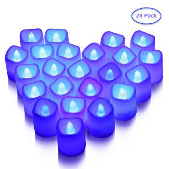 TotalPro – LITAKE 24PCS Candle Shape Lights Flameless LED Tea Lights Set…