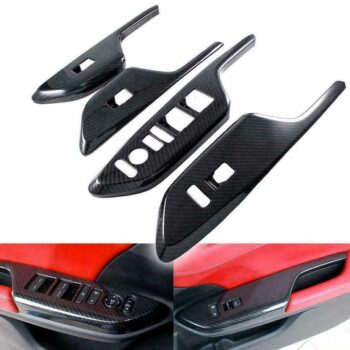 Car Cover 4pcs/set Car Door Window Lock Switch Lift Cover Carbon Fiber Painted for 2016-19 Honda Civic Carbon fiber PAU_06IM8NJ3 at TotalPro.com.au - Australia