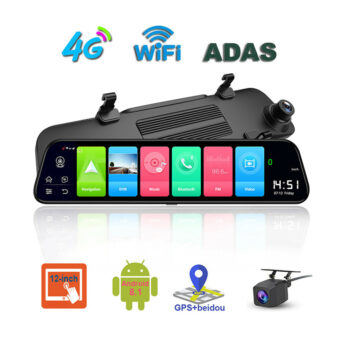 """Car Rear View Camera 12 inch 4G Streaming Full Screen High Definition Navigation 12"""""""" Rearview Mirror 4G Android 8.1 black PAU_07K1697O at TotalPro.com.au - Australia"""