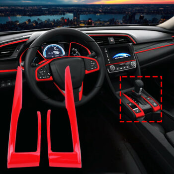 Conditional Accessories 2pcs/set Carbon Fiber Gear Shift Frame Cover Trim For Honda Civic 10th 2016 2017 2018 Stoving varnish red PAU_06X76212 at TotalPro.com.au - Australia