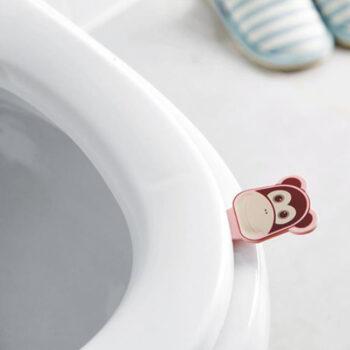 Bathroom Equipment 2Pcs Cartoon Animal Shape Anti-dirty Hand Lift Toilet Seat Handles  Pink monkey PHO_0AR37CPB at TotalPro.com.au - Australia