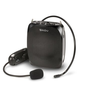 BEESCLOVER SD-615 10W Portable Voice Amplifier Outgoing Speech Teach Speaker 2.4G Wireless Microphone Amplifier FM Radio Speaker
