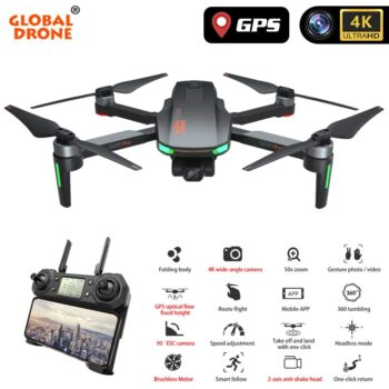 4K GPS Drone with Camera 2-Axis Anti-Shake Servo Gimbal Quadcopter Profesional Dron Quadrocopter VS SG906 PRO FIMI Zino