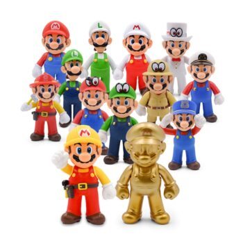 13cm Super Mario Bros Luigi Mario Yoshi Koopa Yoshi Mario Maker Odyssey Mushroom Toadette PVC Action Figures Toys Model Dolls