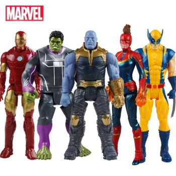 30cm Marvel Avengers Toys Thanos Hulk Buster Iron Man Captain America Thor Wolverine Black Panther Action Figure Dolls