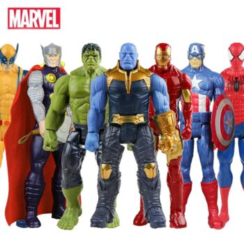 30cm Marvel Super Heroes Avengers Endgame Thanos Hulk Captain America Thor Wolverine Venom Action Figure Toys Doll for Kid Boy