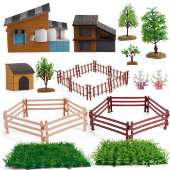 TotalPro – 1set Of Desktop Scene Decorations Simulation Micro-landscape Farm Model…