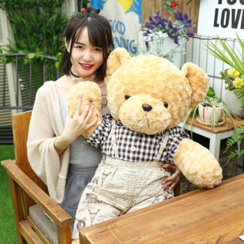 TotalPro – 60/100cm Plush Doll Cute Teddy Bear Stuffed Animals Plush Doll…