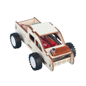 TotalPro – 1pcs Wooden Voice-activated Car Toy  Diy Kit Toys For…