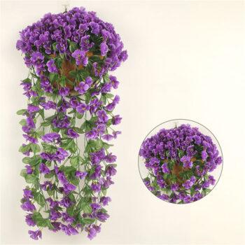 TotalPro – 1 Bunch  Of Wall-mounted  Flower Silk Flower Simulation Chlorophytum…