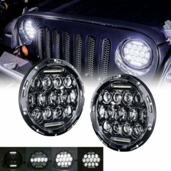 TotalPro – 1 Pair 7 inch 75W LED Headlight Daytime Running Light…