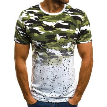 TotalPro – Male Short Sleeves Shirt 3D Pattern Digital Printed Top Leisure…