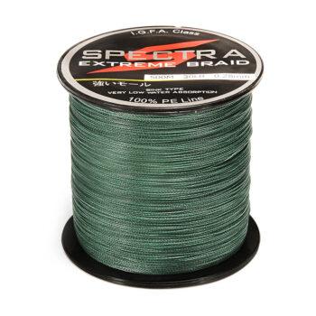 TotalPro – 100%PE Plastic Braided Fishing Line 20LB Test Moss 0.23mm…