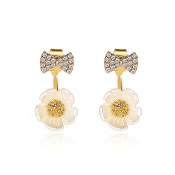TotalPro – 1  Pair  of   Women's   Earrings   Alloy  Daisy  Bowknot   Shell  Flower…