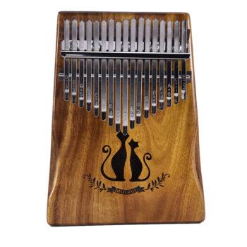 TotalPro – 17 Keys Kalimba African Solid Mahogany Wood Thumb Piano Finger…