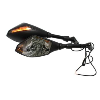 TotalPro – Motorcycle Double LED Turn Lights Side Mirrors Turn Signal Indicator…