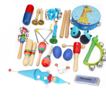 TotalPro – 22PCS/Set Toddler Musical Instruments Wooden Percussion Instruments Toys for…