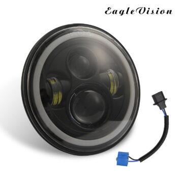 TotalPro – 7 Inch LED Headlights DRL Hi/Lo Beam  Halo Ring…