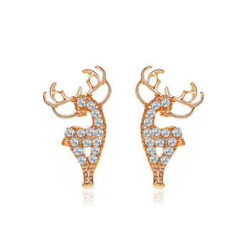 TotalPro – 1  Pair of  Women's  Earrings  Alloy  Christmas Deer-shape  Earrings…