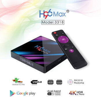 TotalPro – H96 max 3318 Quad-Core 4+64G Android 9.0 HD…